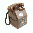 Retro telefon Design ABS mynt Bank - Brown + hvit