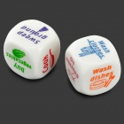 Families Housework Distribution Dice - White + Multicolor (2PCS)