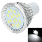 lexing LX-SD-057 GU10 6W 420lm 7000K 15-5730 SMD LED White Light Lamp - White + Silver (AC 220~240V)
