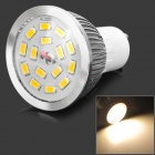 lexing LX-SD-050 GU10 6W 550lm 3500K 15-5730 SMD LED Warm White Light - White + Silver (AC 220~240V)