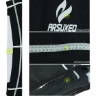 ARSUXEO ARC09-2 Outdoor Sports Cycling Elastic Polyester T-Shirt + Short Pants - Black + White (L)