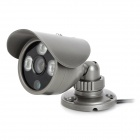 "IT-P6003-2A15 1/3"" CCD 600TVL Infrared CCTV Camera w/ 3-LED Night Vision / Power Adapter - Ash Black"