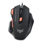 X7 USB 2.0 Wired 2400dpi Optical LED Gaming Mouse - Black + Orange