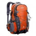 LKLR Outdoor Travel Water Resistant Nylon Backpack - Orange + Grey + Multicolored (50L)