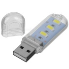 PL 3-LED White Light USB Night Lamp - Transparent + Yellow