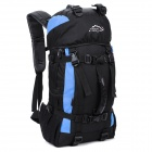 LKLR 423 Outdoor Travel Water Resistant Nylon Backpack - Sky Blue + Black (38L)