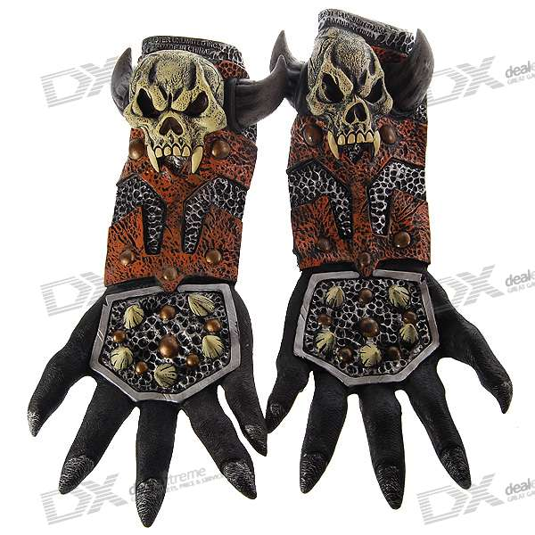 Halloween Scary Devil Gloves (Pair)