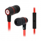 MAIBOSI MA-39 Fashion Universal In-Ear Earphones w/ Microphone - Black + Red (3.5mm Plug / 124cm)