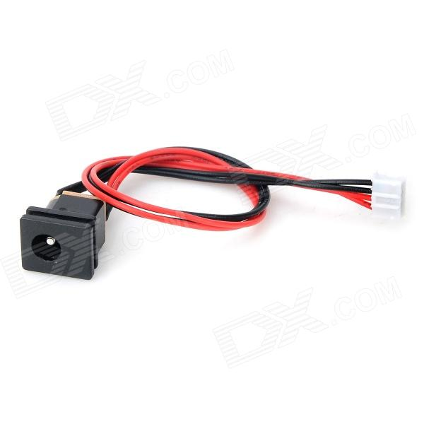 LCD DC Power External Power Socket Plug - Black + Red + Multi-Colored