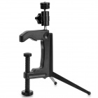 Convenient Multifunctional Mini ABS + Stainless Steel Tripod Clamp - Black