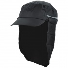 OUTFLY A13008 Outdoor Polyester Sunproof Hat / Cap w/ Removable Skirt for Men - Black