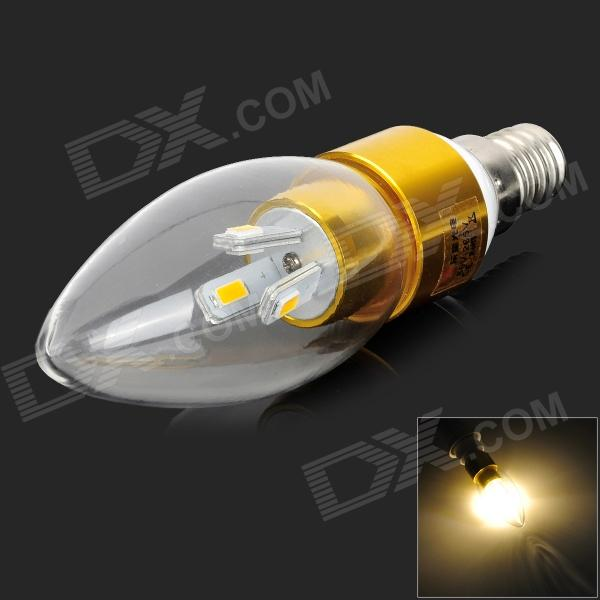 LeXing LX-LZD-4 E14 3W 200lm 3500K 6-SMD 5730 LED Warm White Light Bulb (85~265V) lexing lx qp 20 e14 6w 470lm 3500k 15 5730 smd led warm white light dimmable lamp ac 220 240v