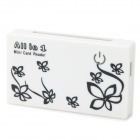 6-IN-1 Mini USB2.0 Card Reader - White + Black