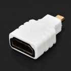 HDMI Male to Male Flat Cable w/ HDMI Female to Mini HDMI Female Adapter AV Cable - White