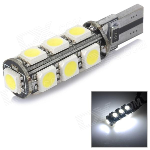 T10 2W 60lm 6000K 13-5050 SMD LED White Light Car Reading Lamp - Yellow + Black (12V) lx 3w 250lm 6500k white light 5050 smd led car reading lamp w lens electrodeless input 12 13 6v