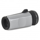 6X16 Outdoor Portable 6X Monocular Telescope w/ Strap - Black + Antique Silver