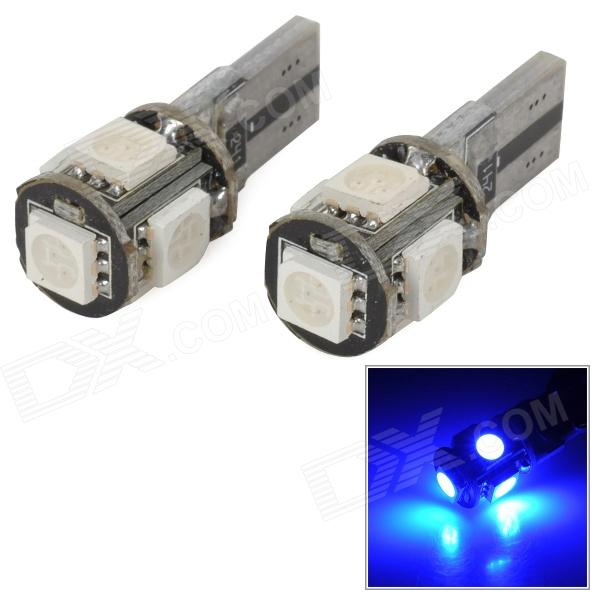 T10 CANBUS 1W 30lm 5-SMD 5050 LED Blue Light Clearance / Reading / Daytime Running Lamp (12V) lamp light digital wireless switch remote control 3 way port on off 220v receiver transmitter for led light fuli