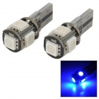 T10 CANBUS 1W 30lm 5-SMD 5050 LED Blue Light Clearance / Reading / Daytime Running Lamp (12V)