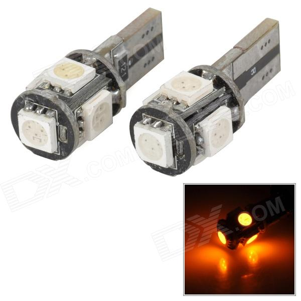 T10 CANBUS Decoding 1W 30lm 5-SMD 5050 LED Clearance / Reading / License Plate Lamp (12V) carprie super drop ship new 2 x canbus error free white t10 5 smd 5050 w5w 194 16 interior led bulbs mar713