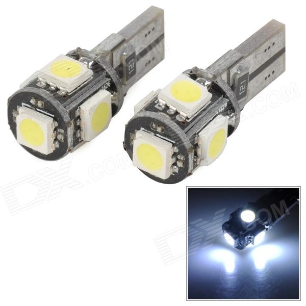 T10 CANBUS Decoding 5-SMD 5050 LED White Light Clearance / Reading / Daytime Running Lamp