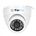 "YanSe YS-632-1CCW 1/4"" CMOS 700TVL CCTV Dome Camera w/ IR-Cut / 24-LED Night Vision - White"