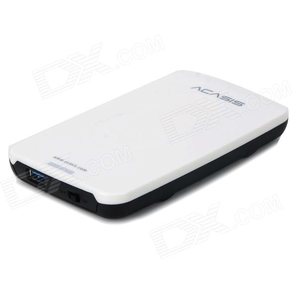 "Acasis FA-05US 2.5"" USB 3.0 HDD Case Hard Drive SATA External Enclosure Box - White + Black"