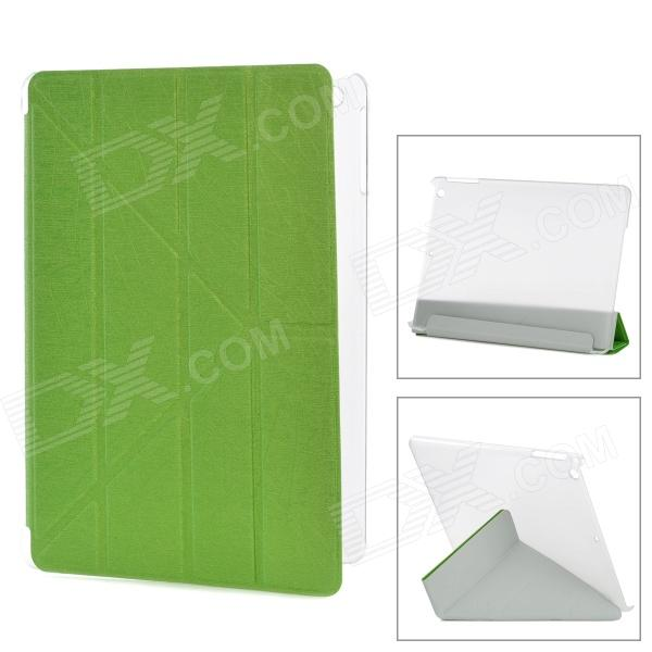 YSY Transformable Protective PU Leather + Plastic Case for IPAD AIR - Green