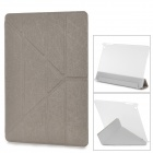 YSY Transformable Protective PU Leather + Plastic Case for IPAD AIR - Khaki