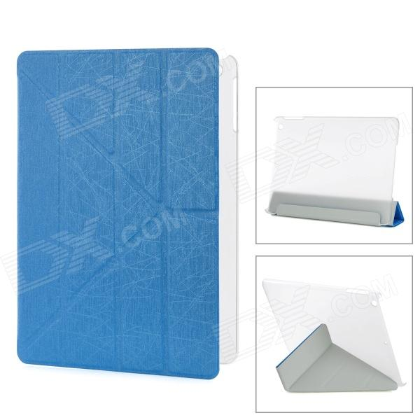 YSY Transformable Protective PU Leather + Plastic Case for IPAD AIR - Blue