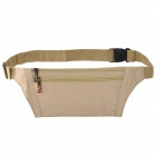 JBYD JA1002 Outdoor Sports Anti-theft Polyester Zipper Waist Bag - Khaki