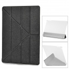 Transformable Protective PU Leather + Plastic Case for IPAD AIR - Black