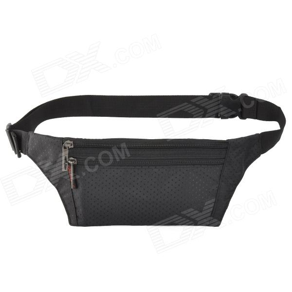 JBYD JA1002 Outdoor Sports Anti-theft Polyester Zipper Waist Bag - Black цена и фото
