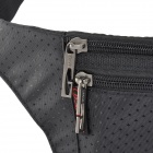 JBYD Outdoor Sports Anti-theft Polyester Zipper Waist Bag - Black