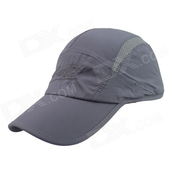 OUTFLY A13004 Outdoor Sunproof Polyester Cap for Men - Grey