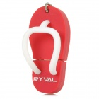 RYVAL Wasserdicht Slipper Stil USB 2.0 Flash Drive w / Chain - Rot (8GB)