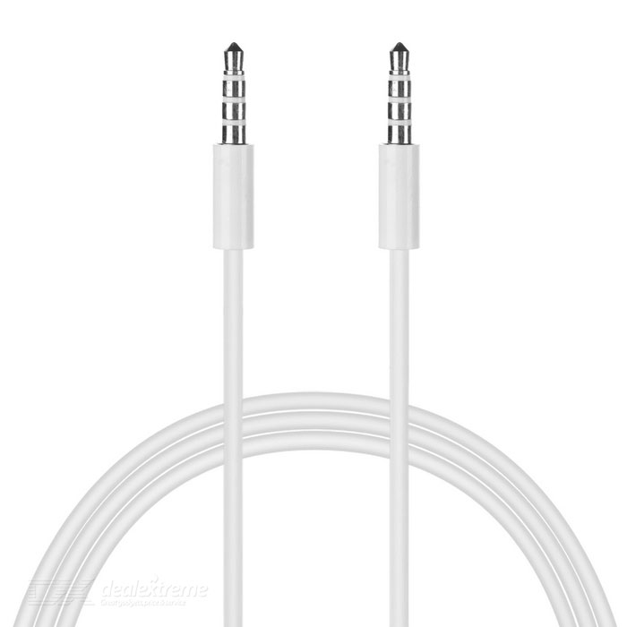 Eastor 3.5mm Male to Male Car Aux Audio Cable - White (120cm)
