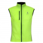 WOLFBIKE BC204-0XL Outdoor Sports Cycling Water Resistant Windproof Florescent Vest - Green (XL)