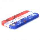 Graffiti Style Eiffel Tower Pattern Back Case for IPHONE 5 / 5s - White + Blue + Multi-Colored