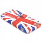 Graffiti UK drapeau National & Big Ben Style protection TPU pour IPHONE 5 / 5 s - blanc + rouge + bleu