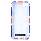 Graffiti UK National Flag Style Protective TPU Back Case for IPHONE 5 / 5S - White + Red + Blue