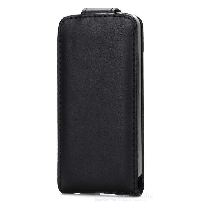 Protective Flip-Open PU Leather + PC Case for IPHONE 5 / 5S - Black