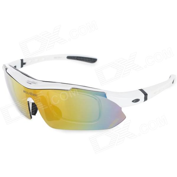 WOLFBIKE BYJ-013-W Outdoor Sports UV400 Protection Polarized Goggles - White