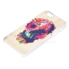 Cráneo Flor Relief Estilo protectora PC nuevo para IPHONE 5 / 5S - Multicolor