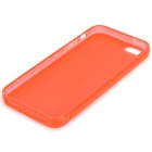 S-What Protective Matte TPU Case for IPHONE 5 / 5S - Translucent Red