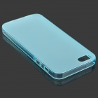 S-quelle protection mat TPU pour IPHONE 5 / 5 s - bleu translucide