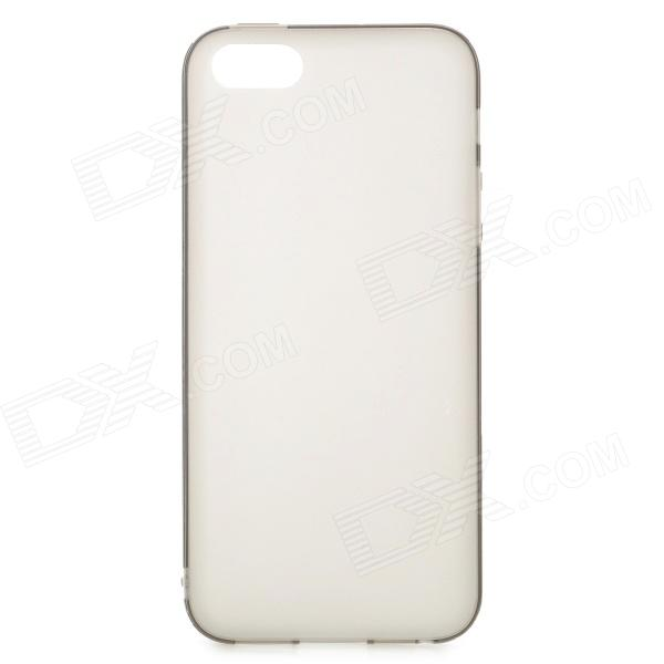 все цены на  S-What Protective Frosted TPU Back Case for IPHONE 5 / 5S - Translucent Grey  онлайн