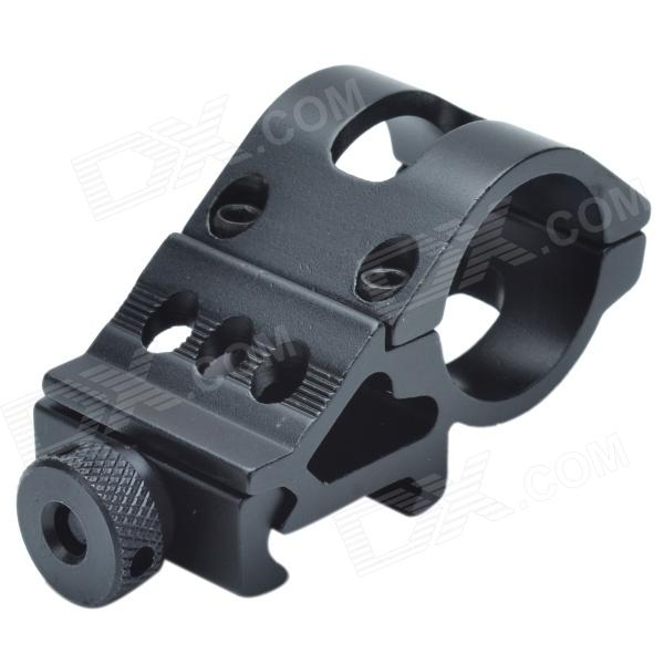 25mm Aluminum Alloy Gun Barrel Laser / Flashlight Mount with Hex Wrench - Black 10pcs m3 aluminum column 6 10 15 25mm 20mm 28mm 30mm 35mm round aluminum alloy pillar standoff spacer fastener anti slip for rc