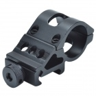 25 milímetros de liga de alumínio Gun Barrel Laser / Flashlight Mount com Hex Wrench - Preto