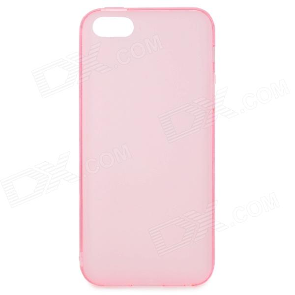 S-What Protective Matte TPU Case for IPHONE 5 / 5S - Translucent Pink