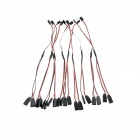 320mm Type Y Servo Extension Lead Wire Cable - White + Black (10 PCS)